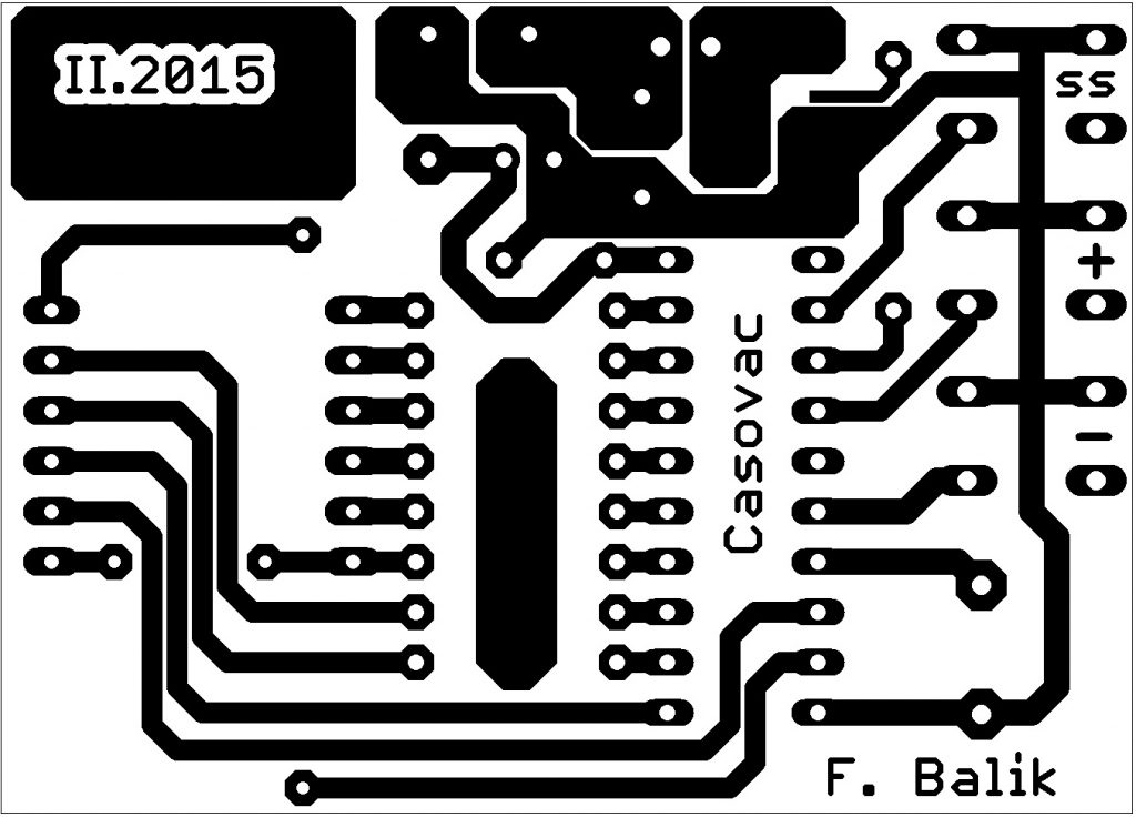 časovač s AVR dps
