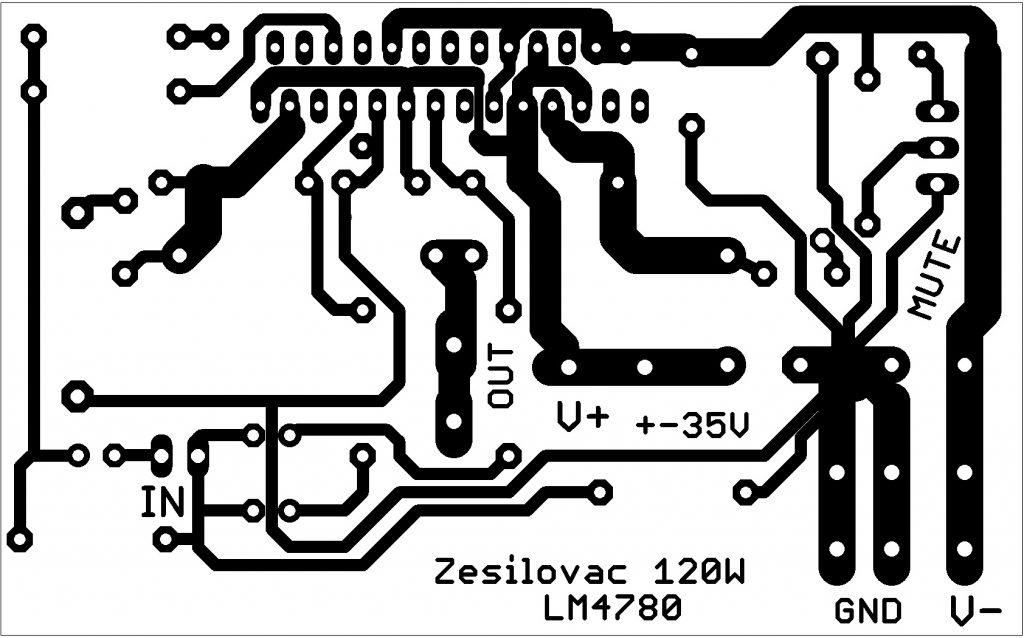 zesilovač lm4780 dps