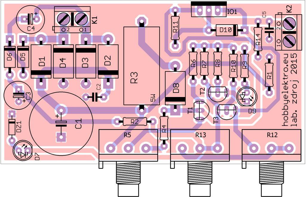 regulovatelný zdroj LM350