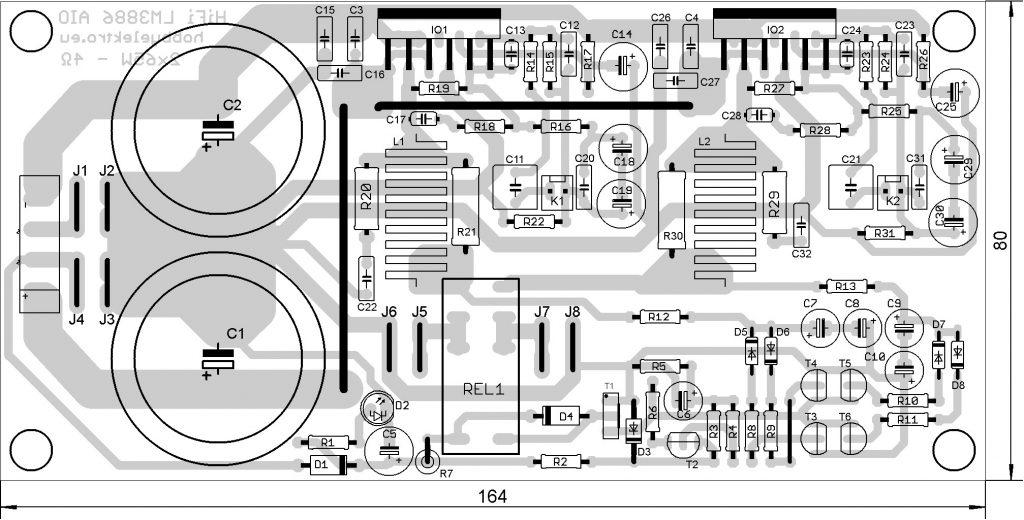 zesilovač lm3886 dps