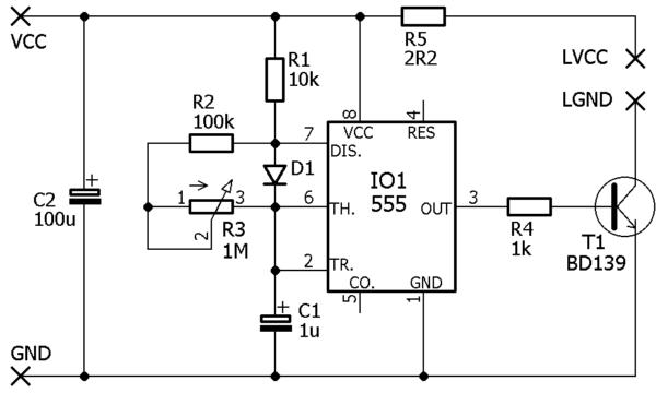LED stroboskop schéma