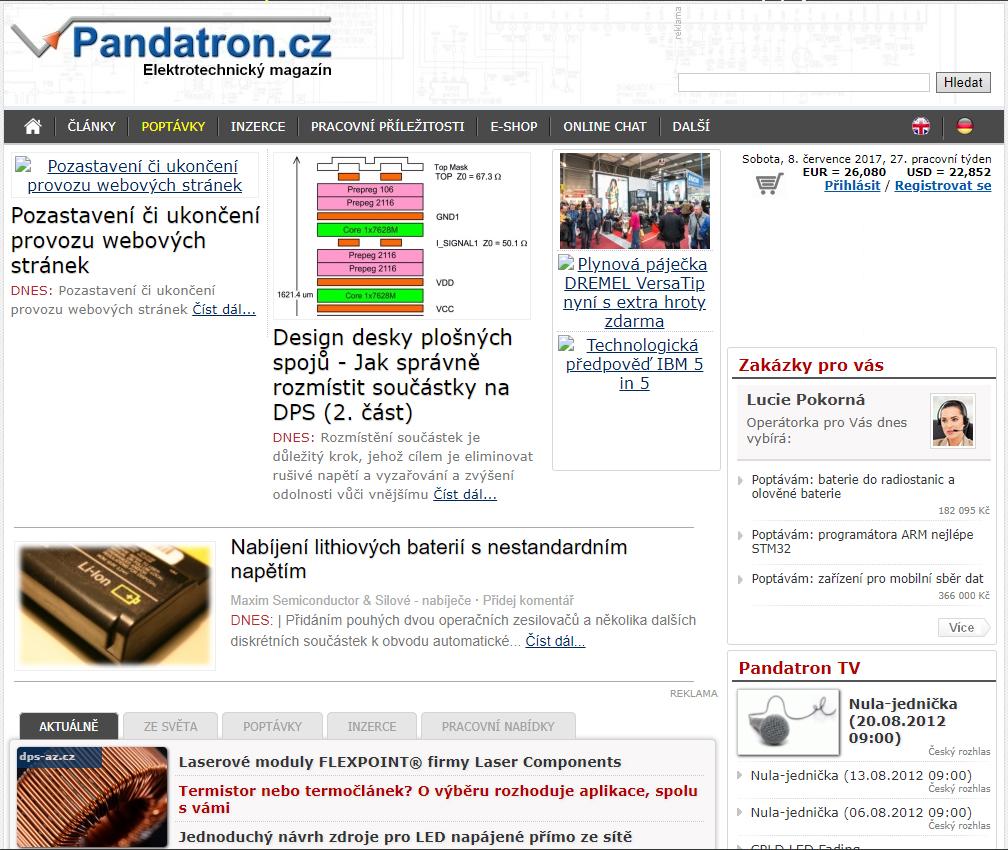 web pandatron cz